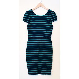 Green/navy blue dress
